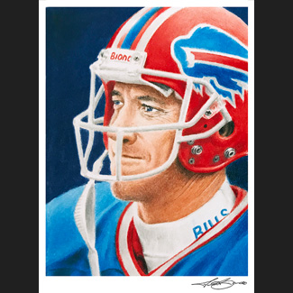Buffalo Bills Jim Kelly: Biondo Art Prints for sale