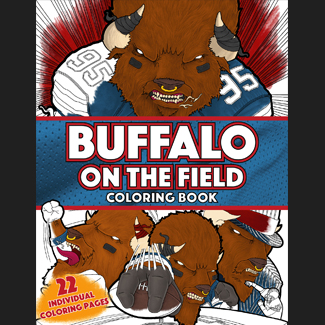 Buffalo On The Field Coloring Book for sale