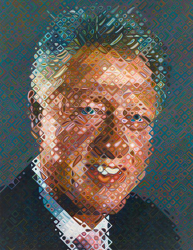 Bill Clinton | Chuck Close | Oil Painting | 2006