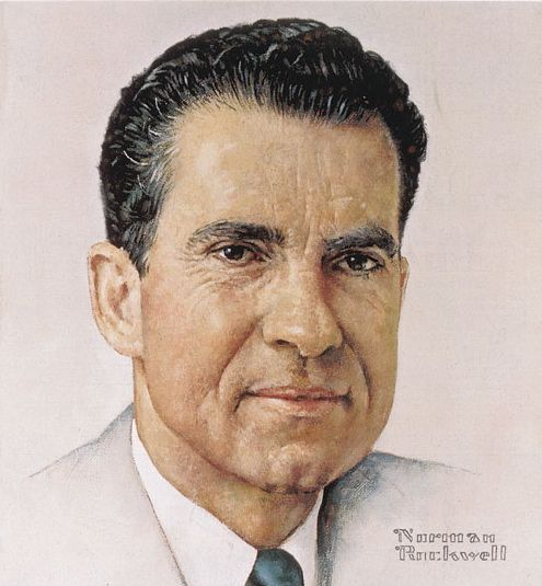 Norman Rockwell | Richard Nixon | Oil Painting