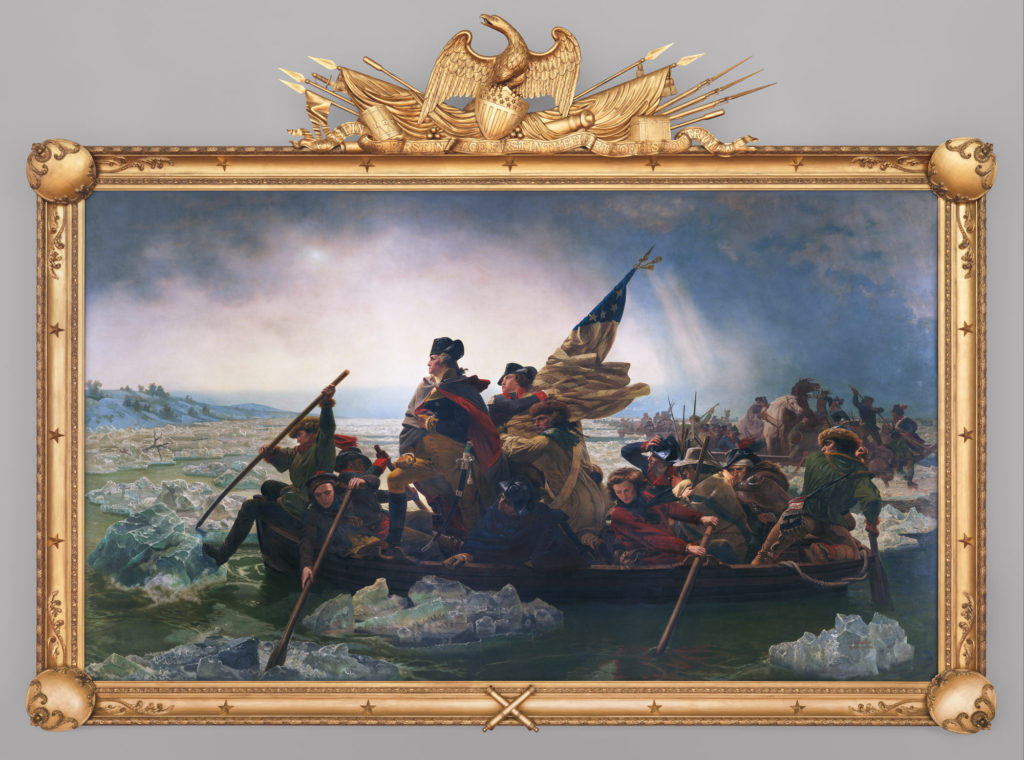Emanuel Leutza | Washington Crossing The Delaware | 1851 | Oil on Canvas | 149 in. x 255 in.