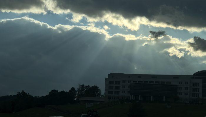 Sun Peeking Through the Sky in Pennsylvania