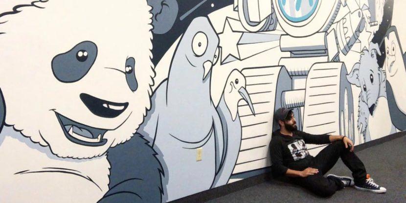 Mainstreethost Mural 2 - Biondo Art
