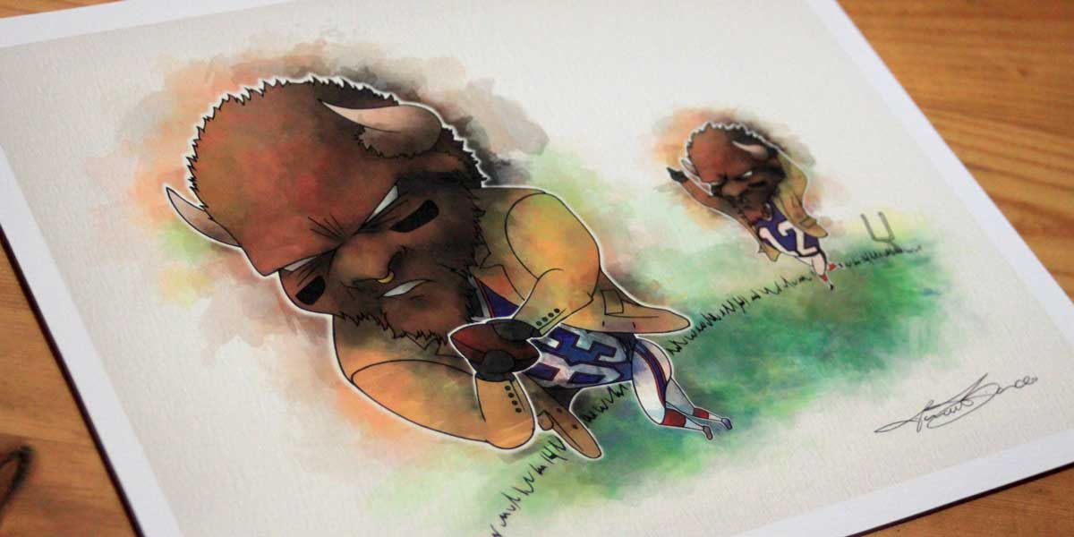 buffalo bills - illustration-enhanced-velvet
