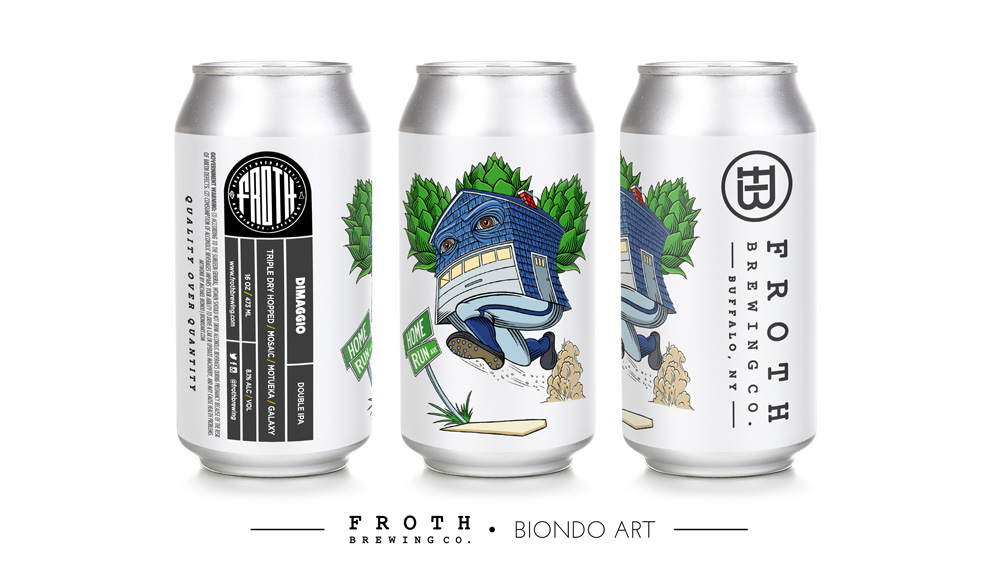 Froth Brewing DiMaggio Illustration