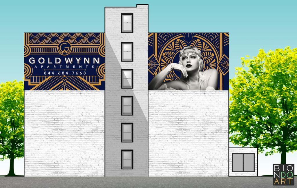Gold Wynn | Biondo Art Mural Mock-Up