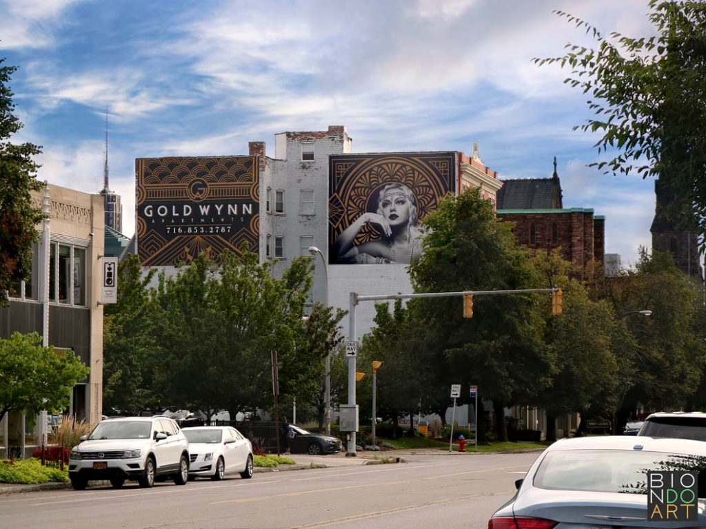 Gold Wynn Murals From Street | Biondo Art