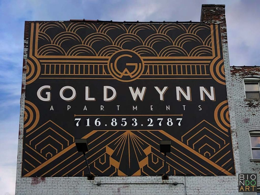 Gold Wynn Murals | Biondo Art | Left Side