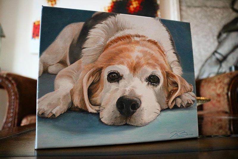 Biondo Art - Joey - Dog Portrait Painting