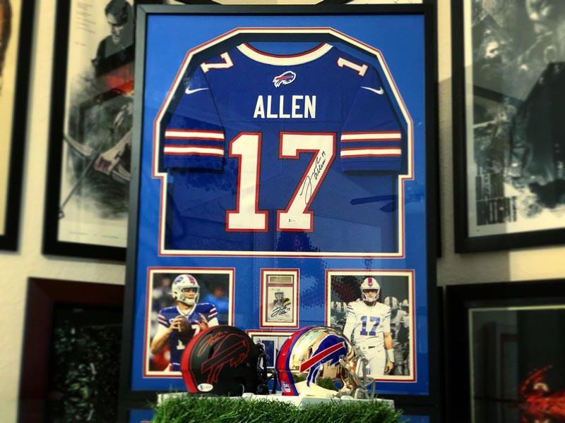 Biondo Art - Buffalo Bills Josh Allen Autographed Jersey Frame