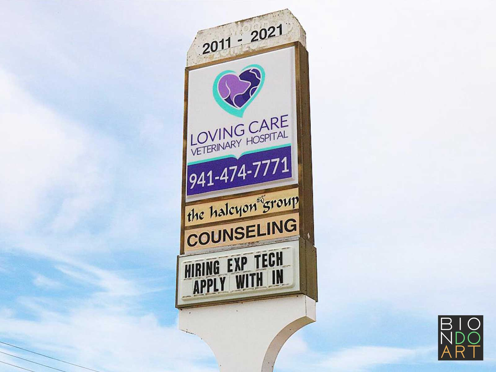 Loving Care Veterinary Hospital Sign