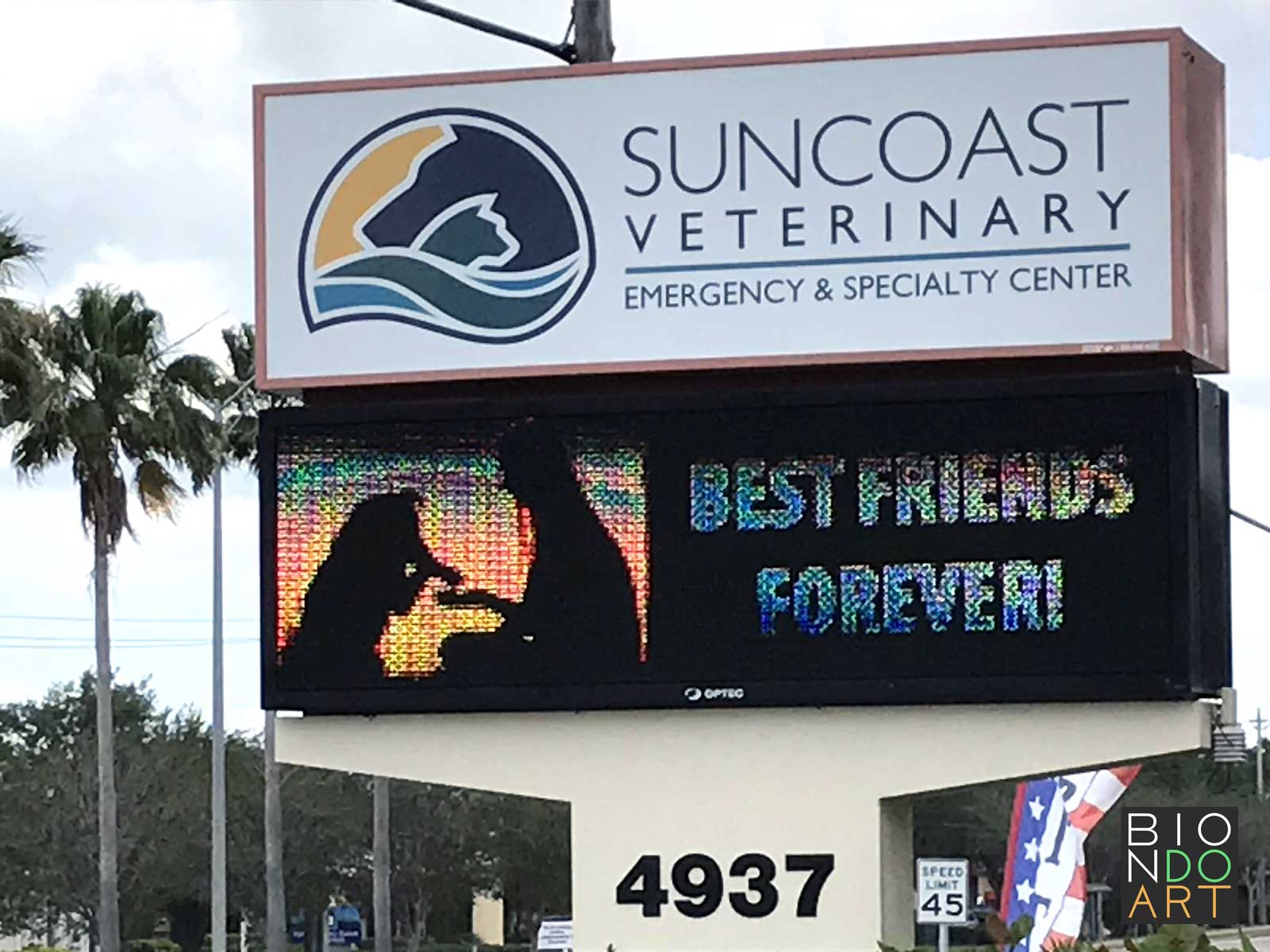 Suncoast Vet Post Sign