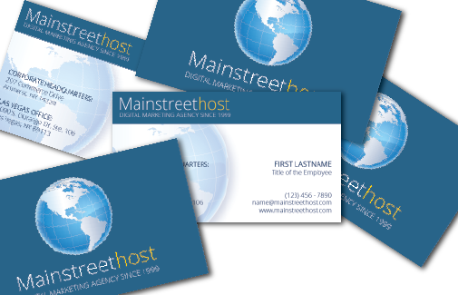 Mainstreethost Business Card Sample