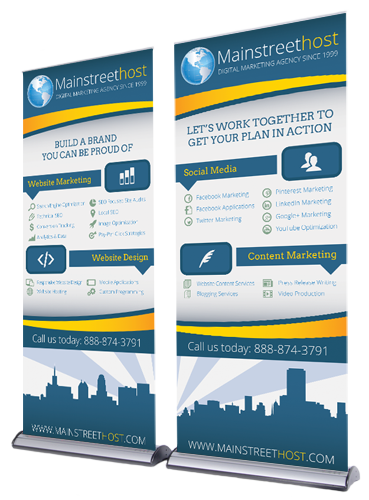 Mainstreethost Infographics designed by Michael Biondo
