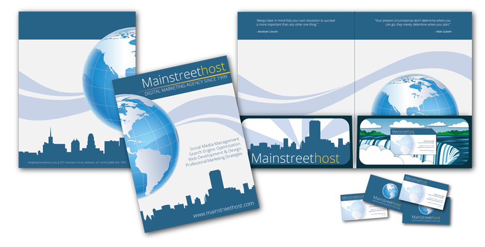 Mainstreethost Folder and Business Card Layout