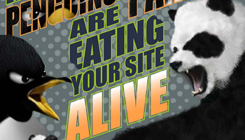 Reasons Penguins & Pandas Are Eating Your Site Alive Infographic
